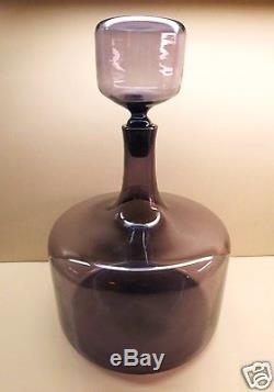 Mid Century Modern 1959 Rare BLENKO GLASS 15 Wayne Husted Decanter LILAC EXC
