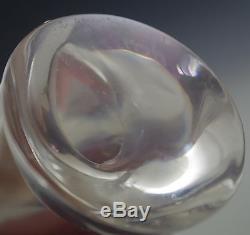 Modern Steuben Art Glass 5 Owl Figurine -paperweight D. Pollard -signed