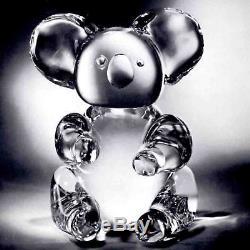 NEW in BOX STEUBEN glass BIG KOALA BEAR crystal great panda steiff teddy heart