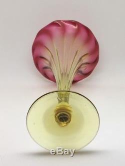 New England Glass Company Fuchsia Amberina Trumpet Vase
