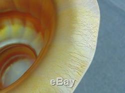 Nice Large Vintage Art Glass Antique Steuben Aurene Iridescent Gold Console Bowl