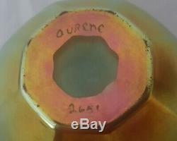 Nice Steuben Ribbed Gold Aurene Signed Art Glass 2.5 Cabinet Vase NO RESERVE