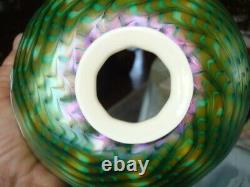 Original Tiffany Studios Lamp With Tiffany Art Glass Shade