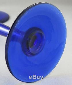 Pair Pairpoint Cobalt Blue 16 Candlesticks Sinclaire Steuben