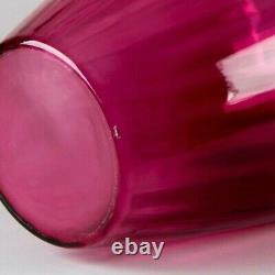 Pilgrim Masterwork Collection Hand Blown Cranberry Glass Vase Monumental 30