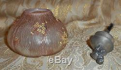 Rare Mt Washington Fig Glue Pot. Has Metal Chick Top And Brush. Sugar Shaker