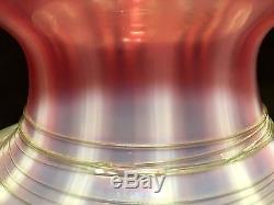 RARE SPECIAL ORDER Steuben Oriental Poppy Art Glass Lamp Base NR