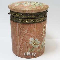Rare Vintage Cf Monroe Wave Crest Kelva Glass Cigar Humidor Box