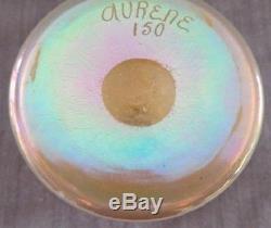 Rare Vintage Steuben Aurene #150 Gold Iridescent Art Glass Vase Sig