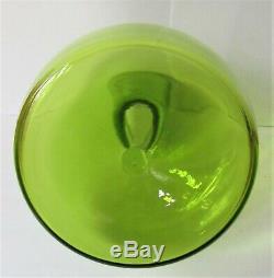 RARE Vintage Joel MYERS BLENKO 70's Playboy Bunny Blown Green Glass Decanter