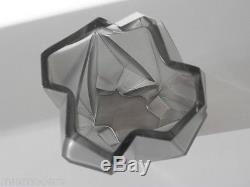 RUBA ROMBIC Reuben Haley Glass Vase 6 1/2 Silver Art DECO Rare Extremely RARE