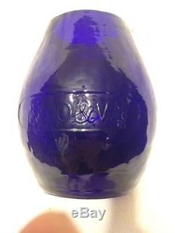 Railroad Lantern Cobalt Blue Globe NYO&W New York Ontario & Western Blenko glass
