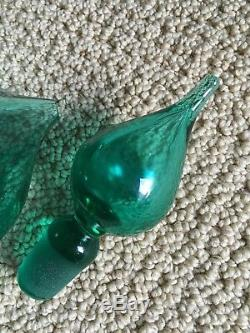 Rare 1958 Wayne Husted Spouted Blenko Glass Decanter # 5823
