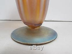 Rare Antique c. 1930's Douglas Nash 7.5 Iridescent Favrile Vase E101