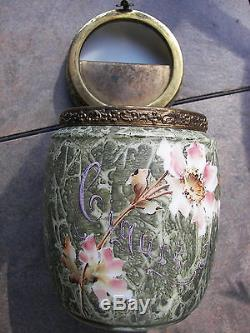 Rare Beautiful Mottled KELVA Art Glass CIGAR Humidor Box Wave Crest Floral