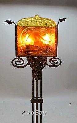 Rare FREDERICK CARDER for STEUBEN Torchiere Lamp c. 1926 antique art glass