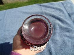Rare Fenton Plum Opalescent Swung Vase