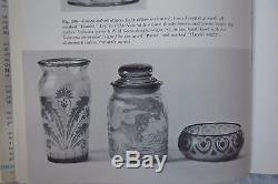 Rare Handel Cameo Acid Etched Art Glass Vase Handel Lamp Artist Signed Parlow