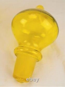 Rare Husted Blenko 588 Yellow Glass MCM Floor Rocket Decanter Bottle 31