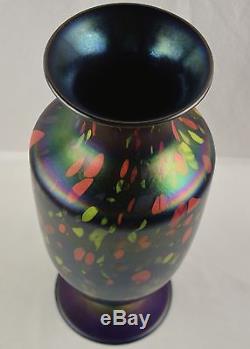 Rare Massive Fenton Art Glass Mosaic Off Hand Vase with Original Sticker 15 7/8