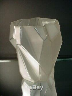 Rare Phoenix Consolidated Glass 9Ht. Ruba Rombic French Crystal Vase Art Deco