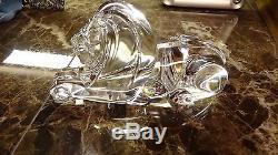 Rare Signed STEUBEN ART GLASS LION SCULPTURE Figurine MGM