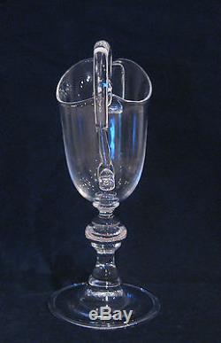 Rare Steuben Art glass Pedestal Pitcher # 7829