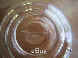 Rare Steuben Glass Pegasus Vase 8206 Signed Sidney Waugh 1937 7.25 Excellent