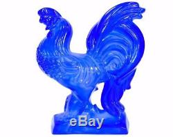 Rare Vintage Fenton Art Glass Periwinkle Blue Chanticleer 10 Rooster