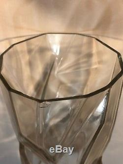 Reuben Haley Art Deco Consolidated Art Glass Ruba Rombic Clear Glass