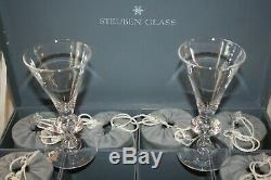 SET OF 11 CRYSTAL STEUBEN TEARDROP BALUSTER WATER GOBLET GLASS 6 #7877 With CASES