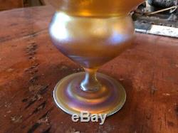 SIGNED L. C. Tiffany Favrile Iridescent Glass c. 1900 NO RESERVE! LCT