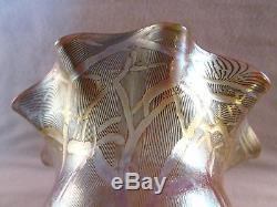 STEUBEN Quezal, Antique Glass Lamp Shade, Beautiful
