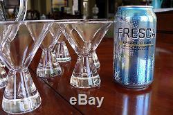 Set 12 Steuben Teardrop Martini Glasses + Steuben Martini Pitcher