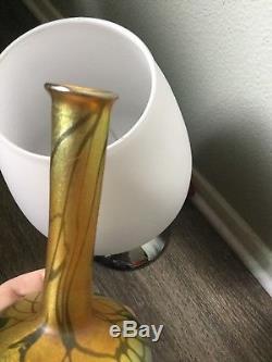 Signed L. C. Tiffany Favrile Glass Vases Signed 6