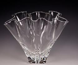 Steuben Blown Glass Signed Handkerchief Vase