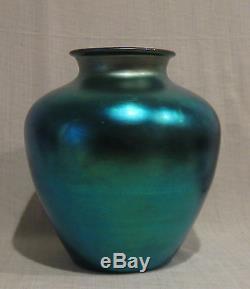 Steuben Blue Aurene 10 1/2 Vase # 2688
