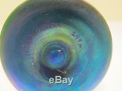 Steuben Blue Aurene Stick Vase Circa 1910