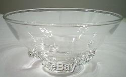 Steuben Full Lead Crystal Spiral Bowl