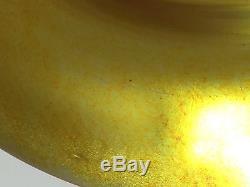 Steuben Gold Aurene Art Glass 12 Vase