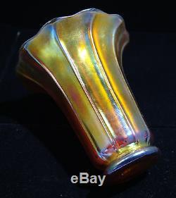 Steuben Gold Aurene Art Glass Trumpet Vase