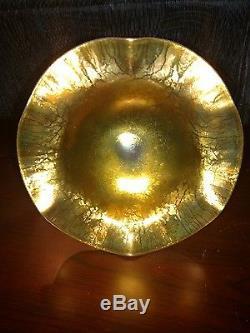 Steuben Gold Aurene Compote