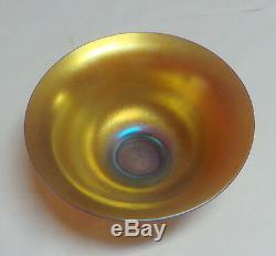 Steuben Gold Aurene Iridescent Art Glass Bowl