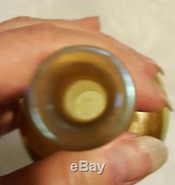 TIFFANY Favrile Glass Vase Original SIGNED Louis Comfort Gold Antique Beautifu