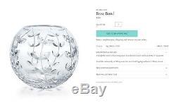 Tiffany & Co. Crystal Diamond Cut Rose Bowl Vase 7 Excellent
