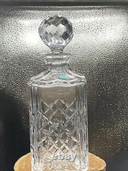 Tiffany & Co. Crystal Retired Master Piece Square Decanter & Stopper Mint