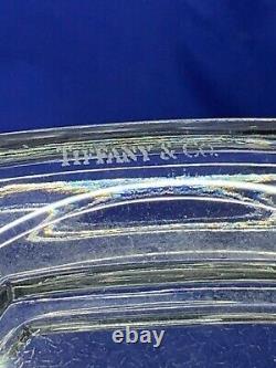 Tiffany & Co. Glass etched crystal Biedermeier tall vase