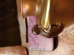 Tiffany Favrile Two Handled Gold Urn Vase Circa 1913