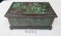 Tiffany Studios Desk Box in Pine Needle Pattern
