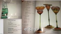 Tiffany Studios Favrile Glass Floriform Vase Tall Rare Lct